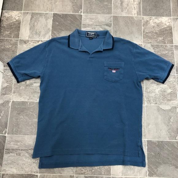 Vintage Lauren Shirt Ralph Polo Men's Sport Sz L 5jA34LRq